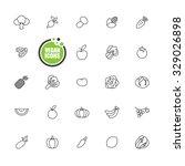 vegan and vegetarian food ... | Shutterstock .eps vector #329026898
