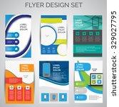 vector set of business flyer... | Shutterstock .eps vector #329027795