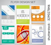 vector set of business flyer... | Shutterstock .eps vector #329027846