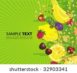 background with fruits | Shutterstock .eps vector #32903341