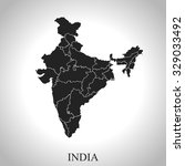 map of india | Shutterstock .eps vector #329033492