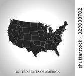 map of usa | Shutterstock .eps vector #329033702