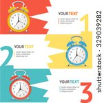 wake up clock option banner.... | Shutterstock .eps vector #329039282