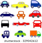 icons with road transport | Shutterstock .eps vector #329042612
