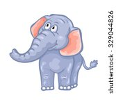 cute cartoon elephant.  | Shutterstock . vector #329044826
