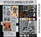 business office planning... | Shutterstock .eps vector #329045138