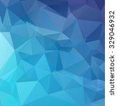 blue polygonal mosaic... | Shutterstock .eps vector #329046932