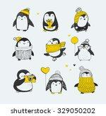 cute hand drawn  vector... | Shutterstock .eps vector #329050202