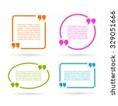 quote text boxes isolated on... | Shutterstock .eps vector #329051666