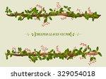 Border Of Creeper Flower Vine...