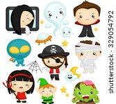 halloween character | Shutterstock .eps vector #329054792