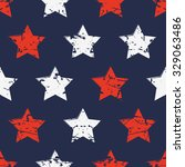hand drawn vector seamless... | Shutterstock .eps vector #329063486
