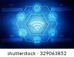 wifi free icon. internet button ... | Shutterstock . vector #329063852