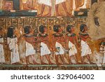 ancient egyptian mural painting | Shutterstock . vector #329064002
