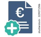 euro medical invoice vector... | Shutterstock .eps vector #329071586