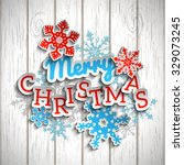 colorful decorative text merry... | Shutterstock .eps vector #329073245