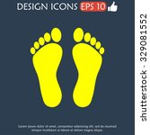 footprint   icon. flat design... | Shutterstock . vector #329081552