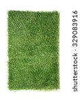 artificial turf tile on a white ... | Shutterstock . vector #329083916