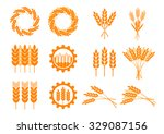 orange cereal icons on white... | Shutterstock .eps vector #329087156