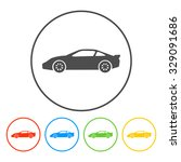 car icon.car icon. flat design... | Shutterstock . vector #329091686