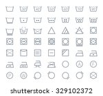 icon set of laundry and textile ... | Shutterstock .eps vector #329102372