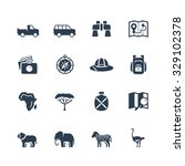 safari vector icon set | Shutterstock .eps vector #329102378