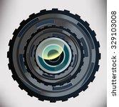 huge technocratic lens camera | Shutterstock .eps vector #329103008
