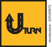 u turn road sign | Shutterstock .eps vector #329109872