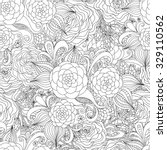 floral hand drawn seamless... | Shutterstock .eps vector #329110562