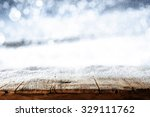 blurred background of winter... | Shutterstock . vector #329111762