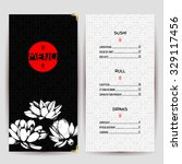 asian food restaurant menu.... | Shutterstock .eps vector #329117456