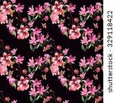 pattern magnolia flowers... | Shutterstock . vector #329118422