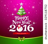 happy new year  lettering... | Shutterstock .eps vector #329118752