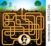 education maze or labyrinth...   Shutterstock .eps vector #329127266