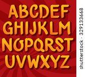 vector hand drawn font. comic... | Shutterstock .eps vector #329133668