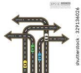 road   street infographic... | Shutterstock .eps vector #329136026