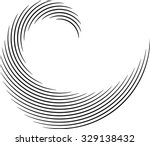 vector curved lines . design... | Shutterstock .eps vector #329138432