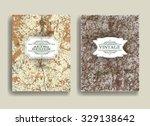 autumn brochure   cover  flyer  ... | Shutterstock .eps vector #329138642