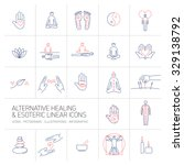 alternative healing and... | Shutterstock .eps vector #329138792
