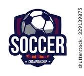 soccer logo  american logo sport | Shutterstock .eps vector #329139875