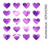 love heart pattern on white... | Shutterstock . vector #329141582