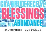 blessings word cloud on a white ... | Shutterstock .eps vector #329143178