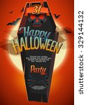 halloween poster with space for ... | Shutterstock .eps vector #329144132