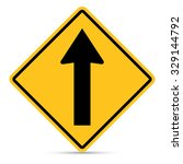 traffic sign  ahead only sign... | Shutterstock .eps vector #329144792