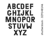 vector hand drawn alphabet with ... | Shutterstock .eps vector #329148146