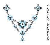 floral decorative pattern.... | Shutterstock .eps vector #329159216