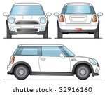 mini car template   layout for... | Shutterstock .eps vector #32916160
