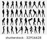 girls silhouette  all  | Shutterstock .eps vector #32916628
