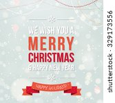 vintage merry christmas and... | Shutterstock .eps vector #329173556