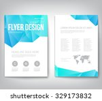 abstract modern cover  report   ... | Shutterstock .eps vector #329173832